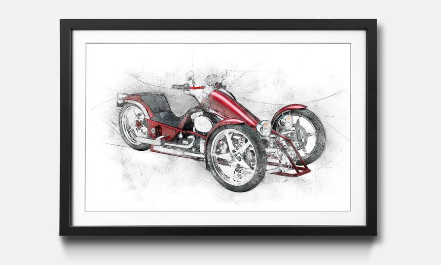 Der gerahmte Kunstdruck Motorcycle Five