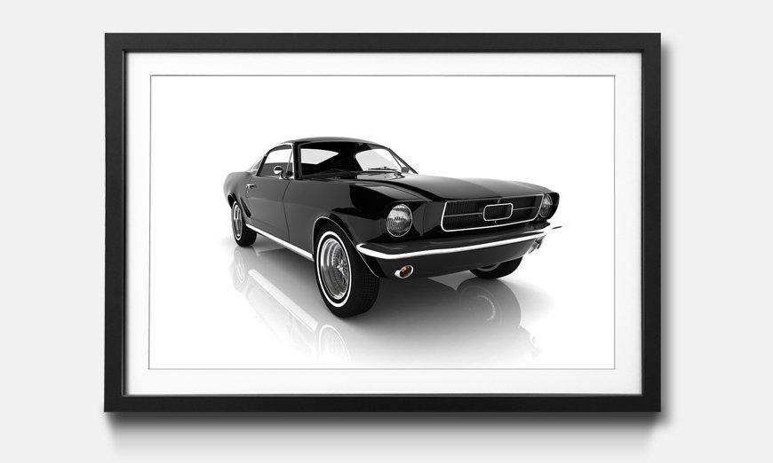 Der gerahmte Kunstdruck Mustang