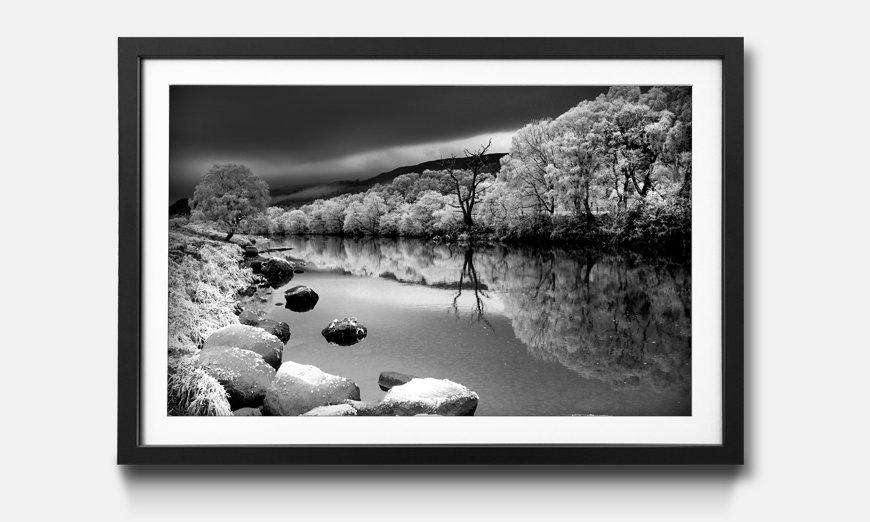 Der gerahmte Kunstdruck Mystic River