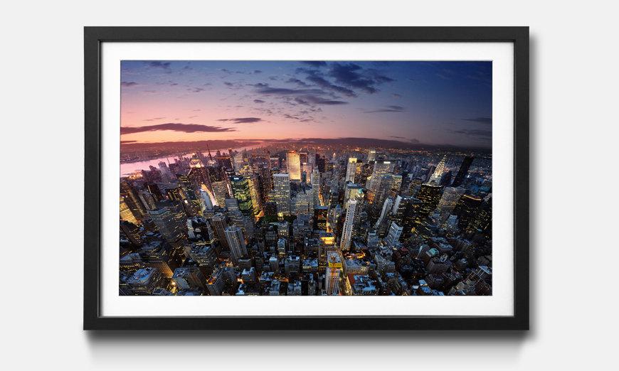 Der gerahmte Kunstdruck New York Sky