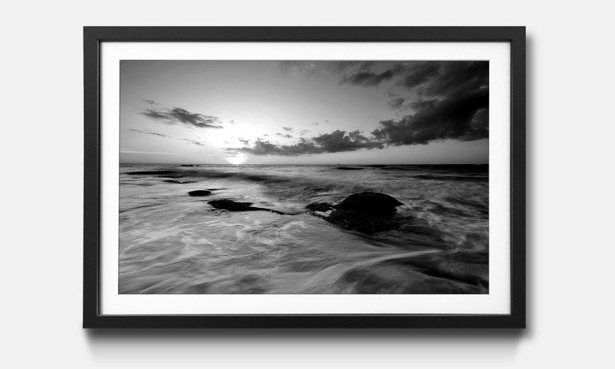 Der gerahmte Kunstdruck Ocean Sunset