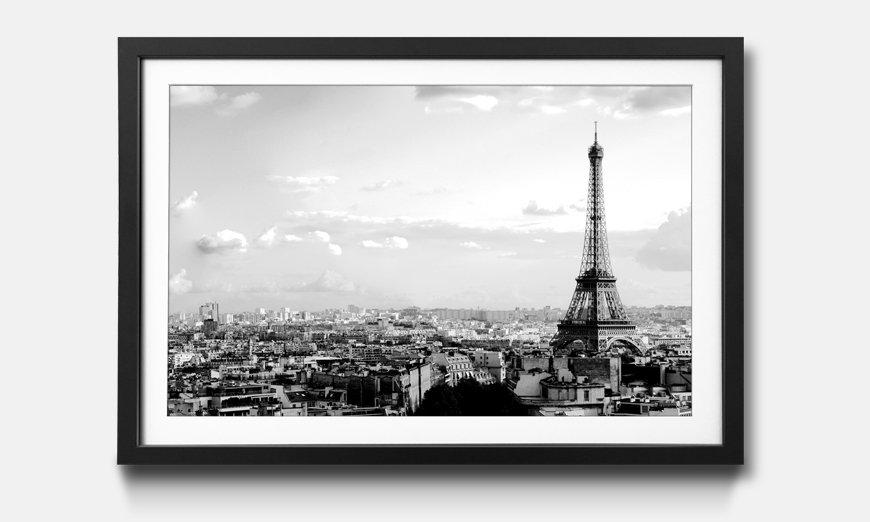 Der gerahmte Kunstdruck Paris Sky