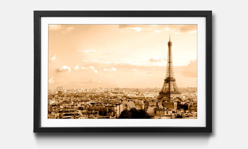 Der gerahmte Kunstdruck Paris Skyline