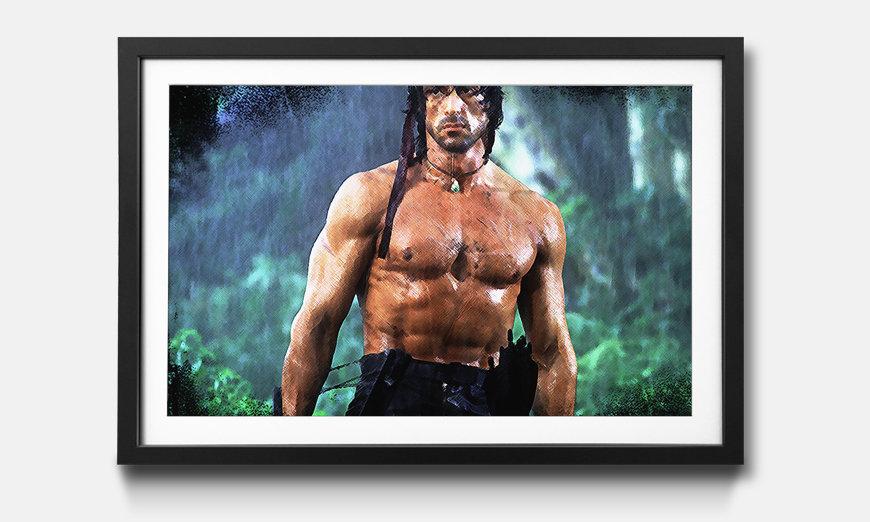 Der gerahmte Kunstdruck Rambo