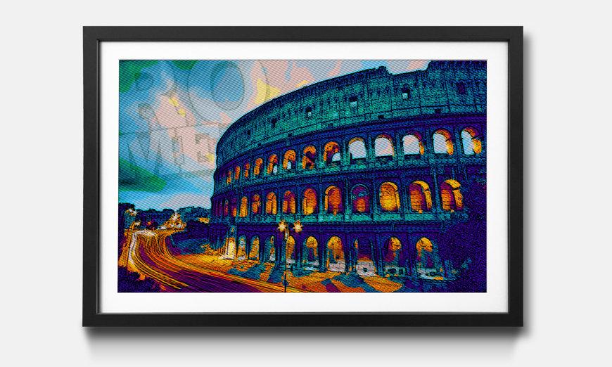 Der gerahmte Kunstdruck Rom