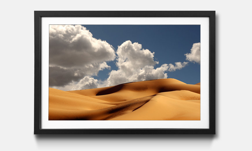 Der gerahmte Kunstdruck Sand Dunes