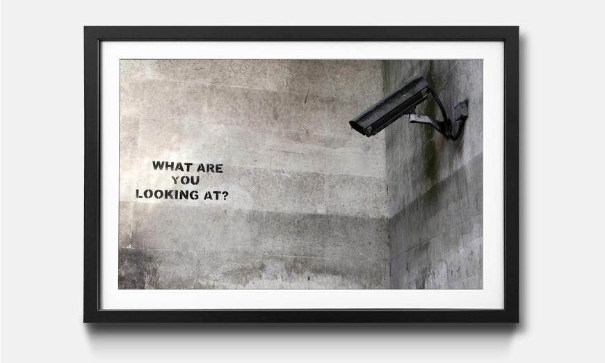 Der gerahmte Kunstdruck Street View