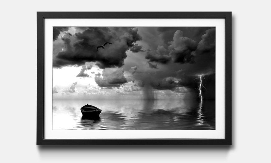 Der gerahmte Kunstdruck The Lonely Old Boat