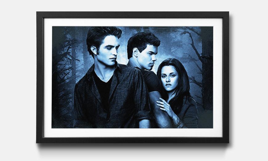 Der gerahmte Kunstdruck Twilight