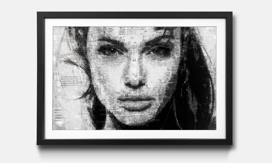 Kunstdruck gerahmt: Angelina