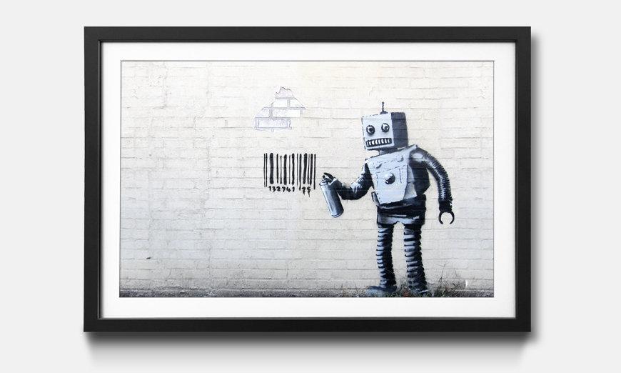 Kunstdruck gerahmt: Banksy No.12