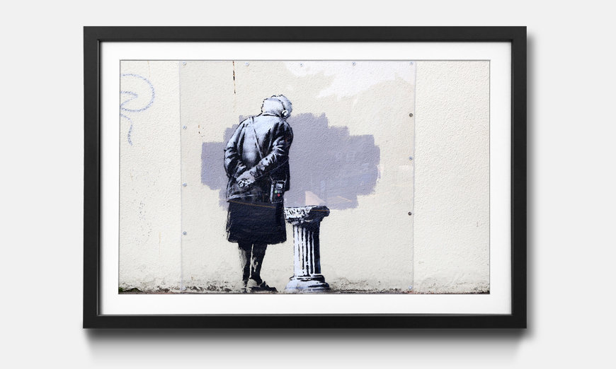 Kunstdruck gerahmt: Banksy No.2