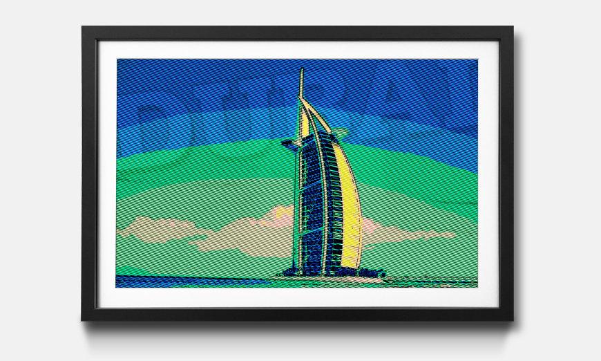 Kunstdruck gerahmt: Dubai