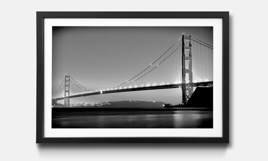 Kunstdruck gerahmt: Golden Gate