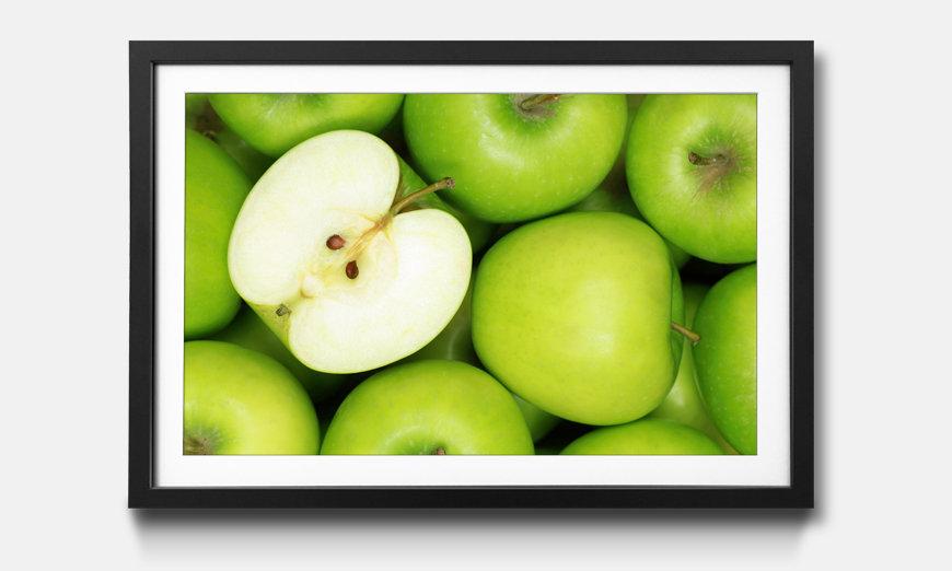 Kunstdruck gerahmt: Green Apples