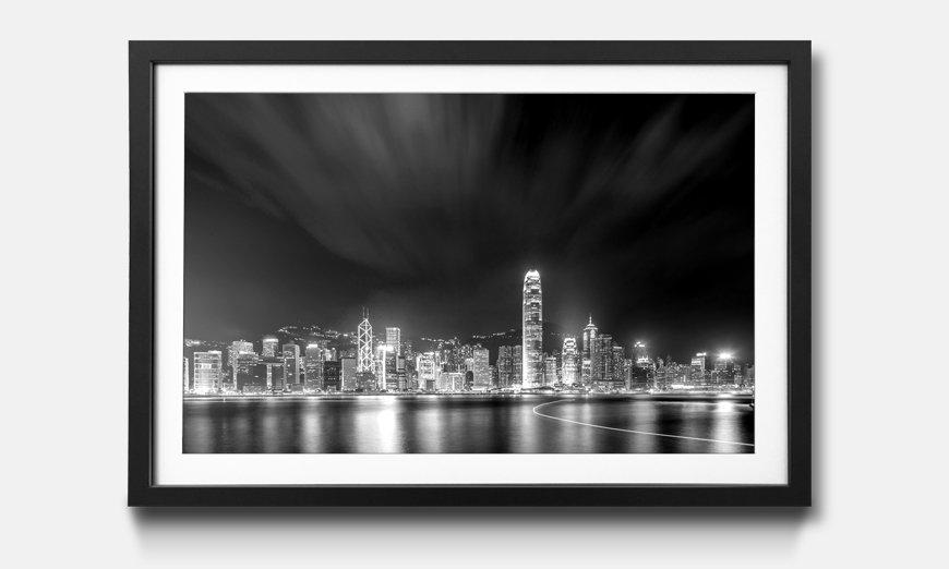 Kunstdruck gerahmt: Hong Kong at Night