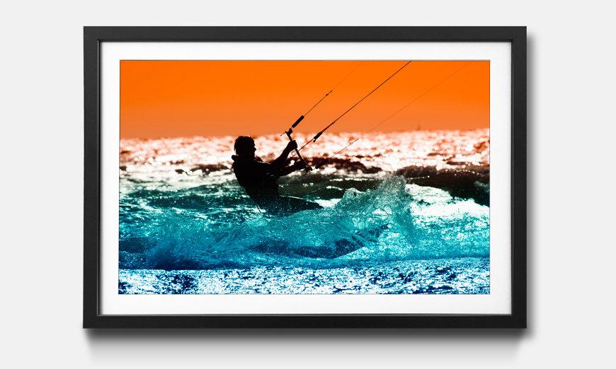 Kunstdruck gerahmt: Kite