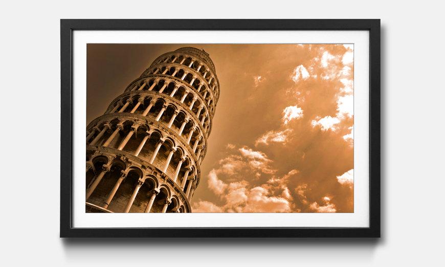 Kunstdruck gerahmt: Leaning Tower