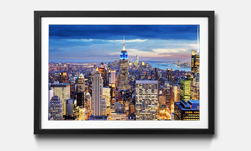 Kunstdruck gerahmt: NY City