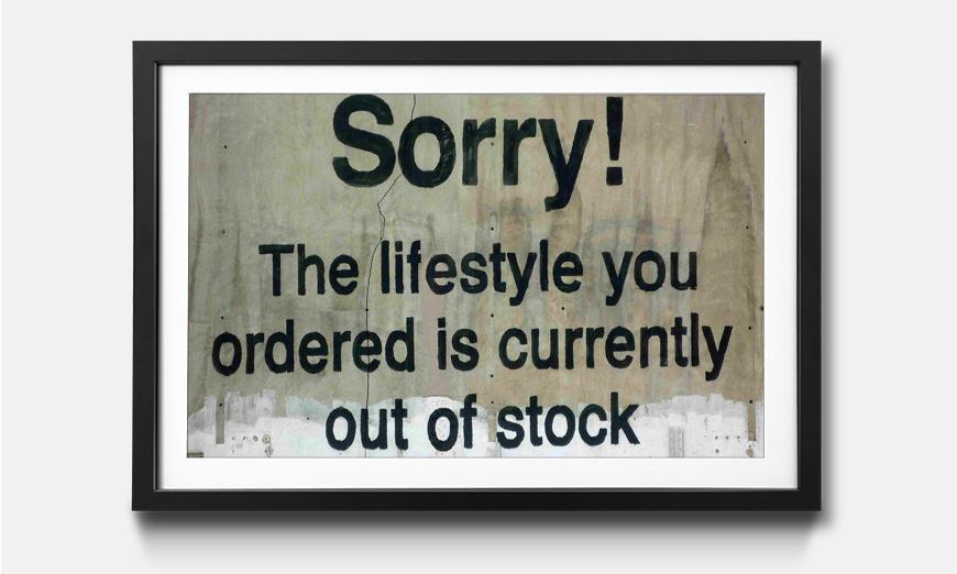 Kunstdruck gerahmt: Out Of Stock