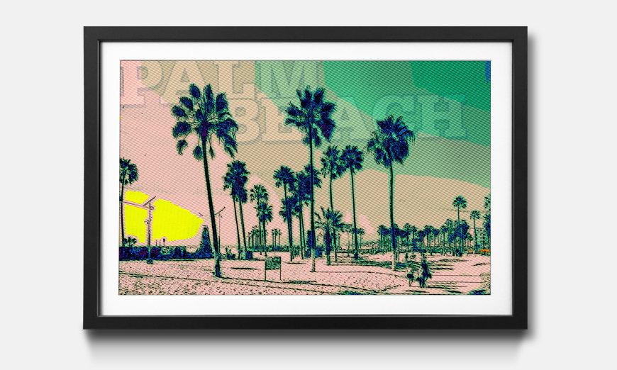 Kunstdruck gerahmt: Palm Beach