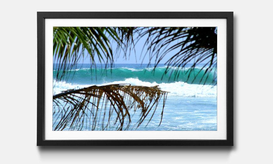 Kunstdruck gerahmt: Sri Lanka Wave