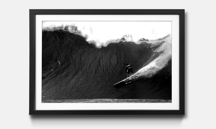 Kunstdruck gerahmt: Surfride