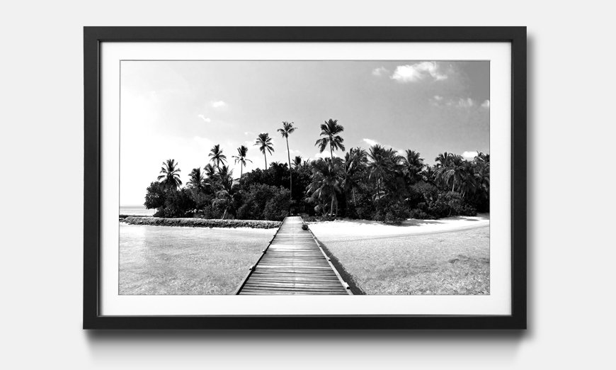 Kunstdruck gerahmt: Tropical Maldives
