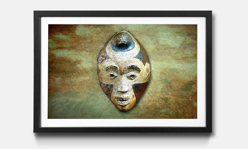 Wandbild gerahmt: Afro Head
