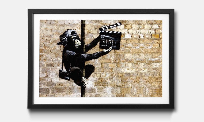 Wandbild gerahmt: Banksy No.13