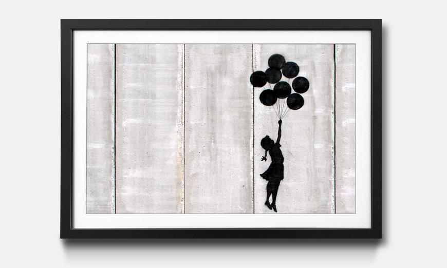 Wandbild gerahmt: Banksy No.3