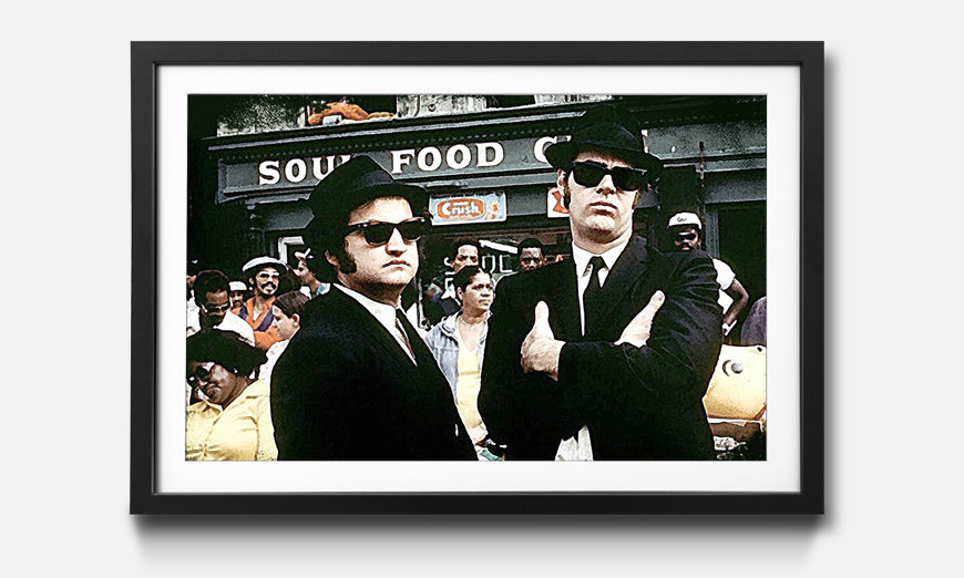 Wandbild gerahmt: Blues Brothers