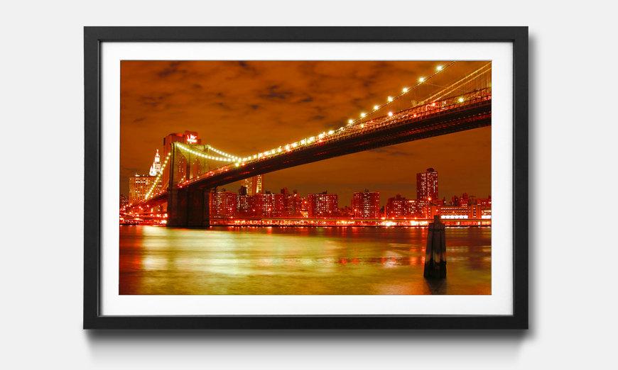 Wandbild gerahmt: Brooklyn Bridge