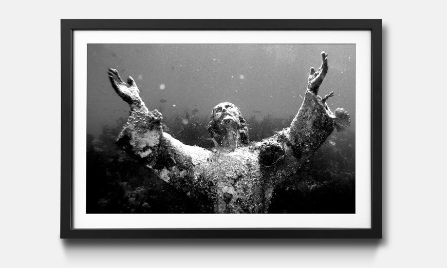 Wandbild gerahmt: Christ Of Abyss