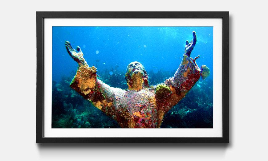 Wandbild gerahmt: Christ of Abyss