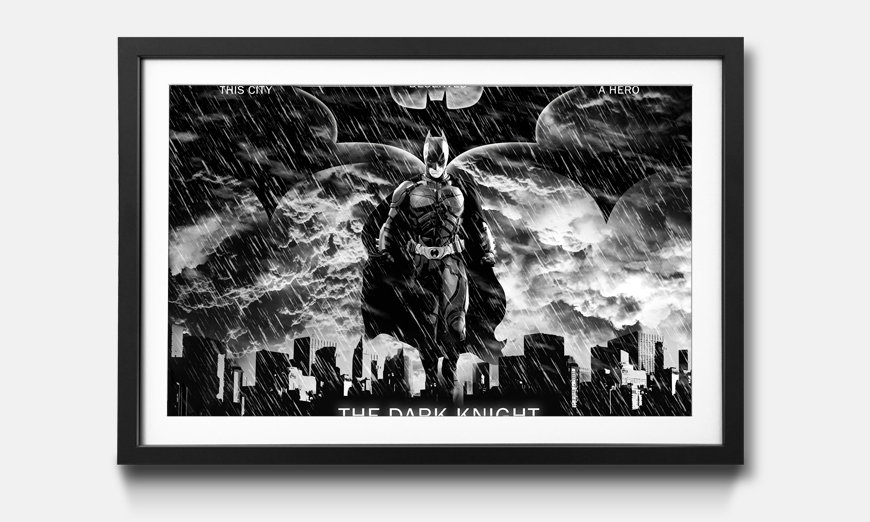 Wandbild gerahmt: Dark Knight