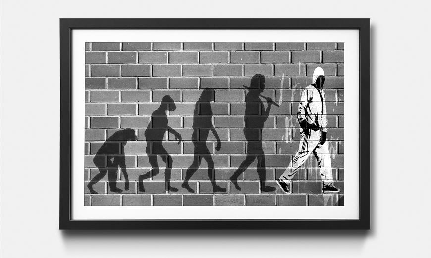 Wandbild gerahmt: Evolution
