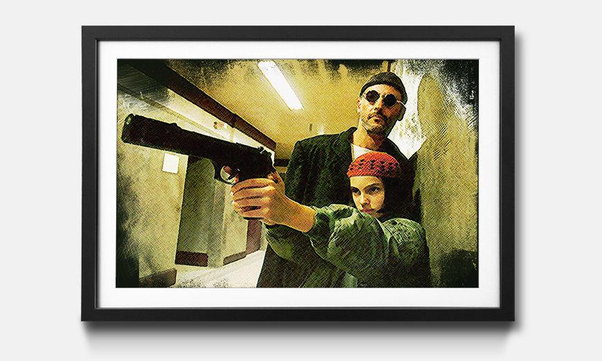 Wandbild gerahmt: Leon