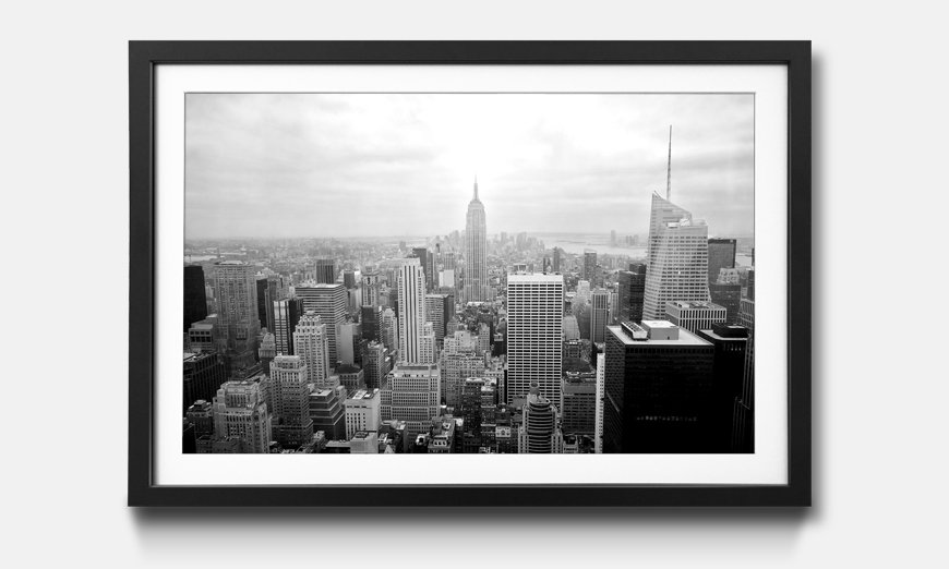 Wandbild gerahmt New York Retro