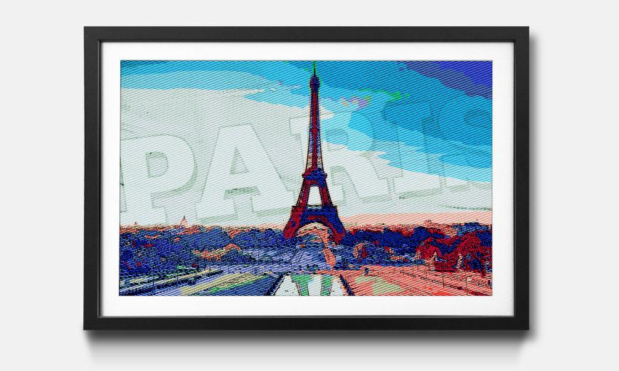 Wandbild gerahmt: Paris
