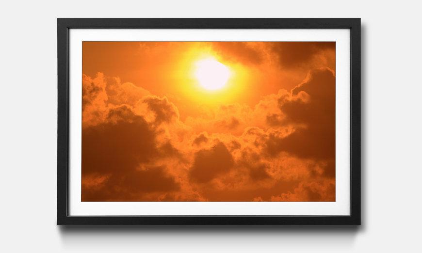 Wandbild gerahmt: Powerful Sun
