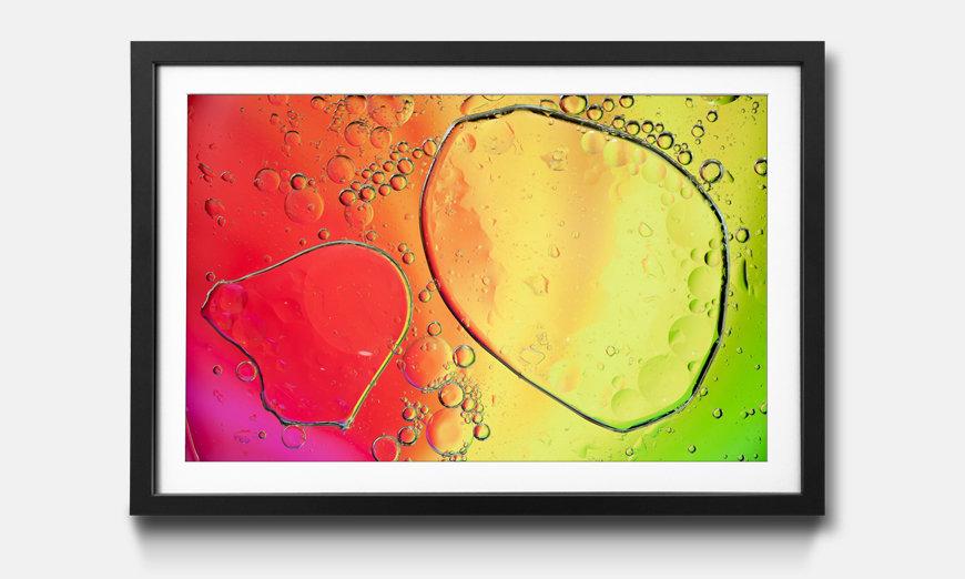 Wandbild gerahmt: Rainbowdrops