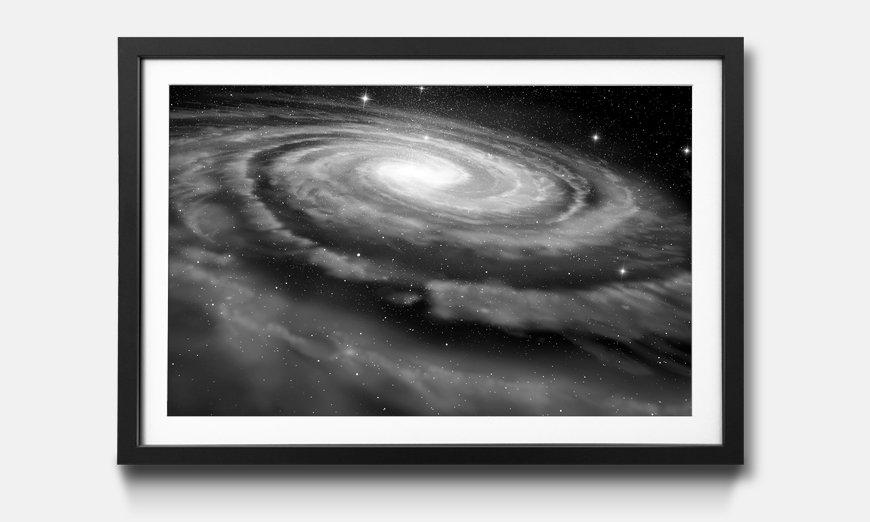 Wandbild gerahmt: Spiral Galaxy