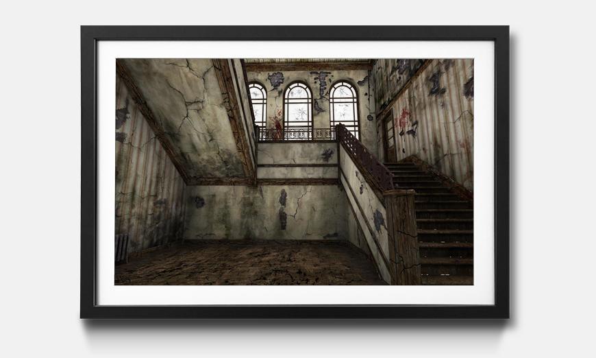Wandbild gerahmt: Staircase