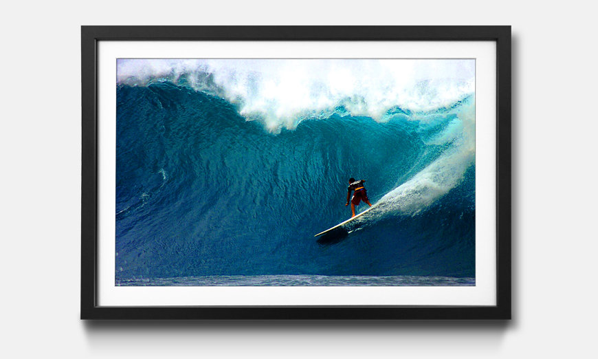 Wandbild gerahmt: Surf Ride