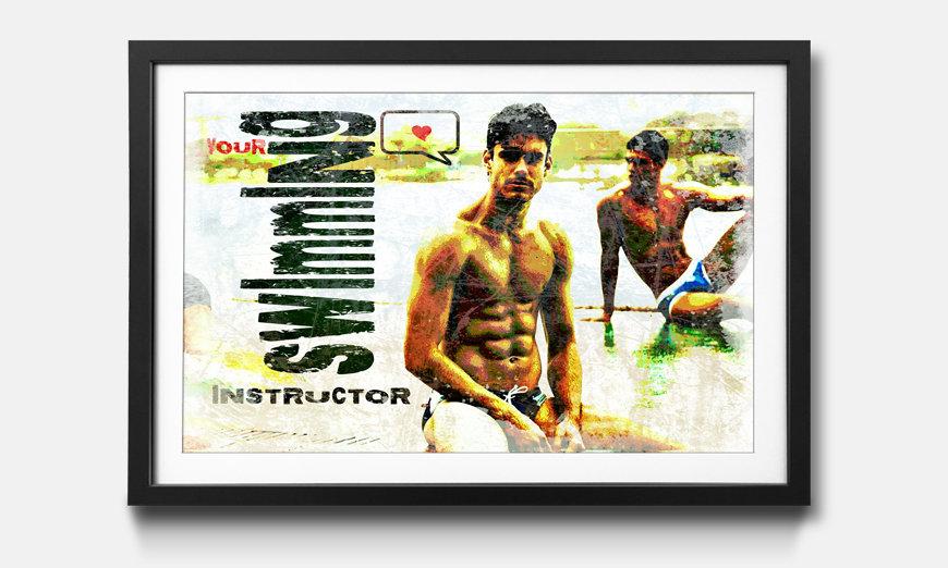 Wandbild gerahmt: Swimming Instructor