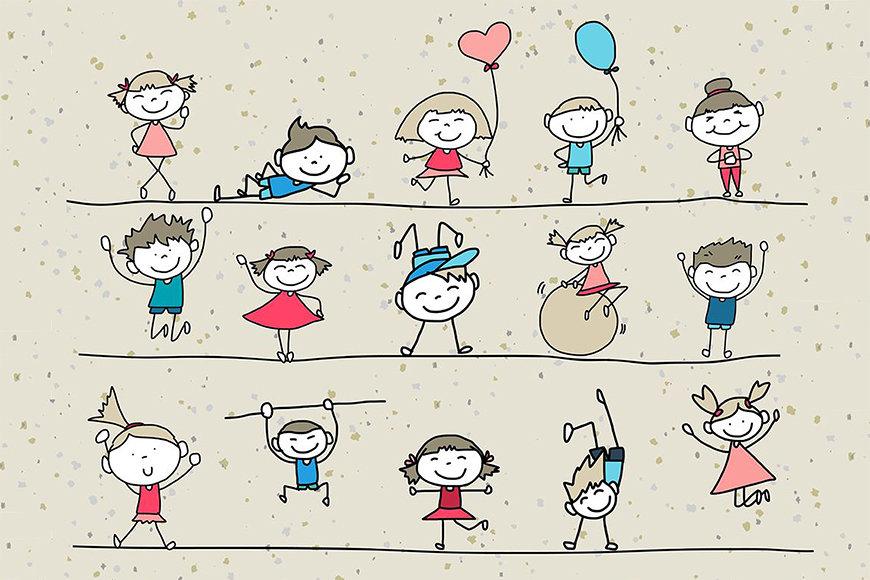Die Tapete Happy Kids