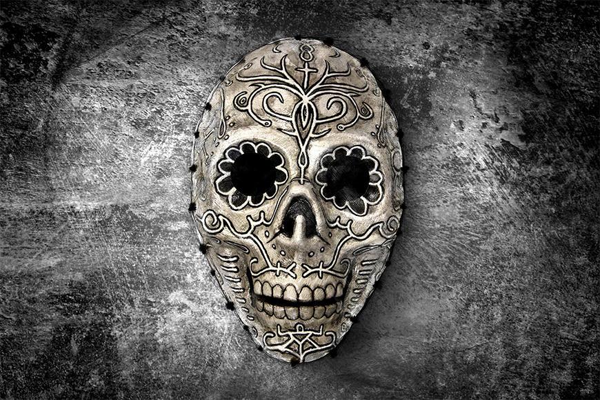 Die Tapete Monochrome Skull