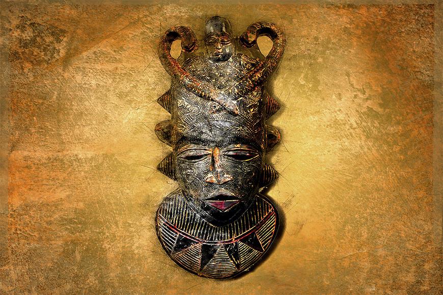 Die Vlies Foto-Tapete African Mask