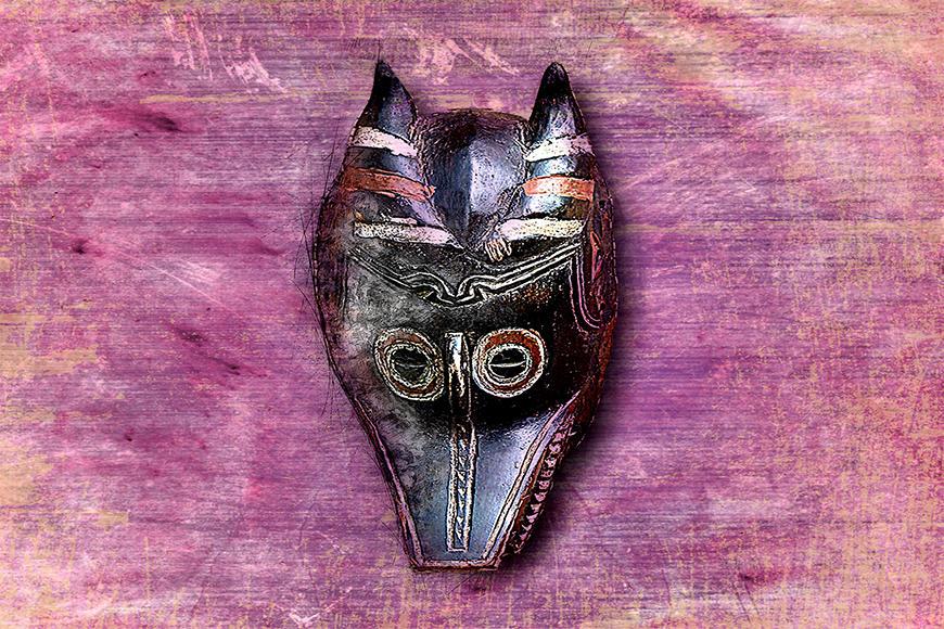 Die Vlies Foto-Tapete Afro Mask